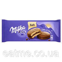 Milka Choc&Choc Бисквитное печенье в шоколаде с шоколадной начинкой