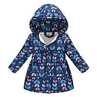Деми куртка для девочки Растения-бабочки Jomake