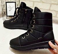 Ботинки женские зимние на шнурках 36-41