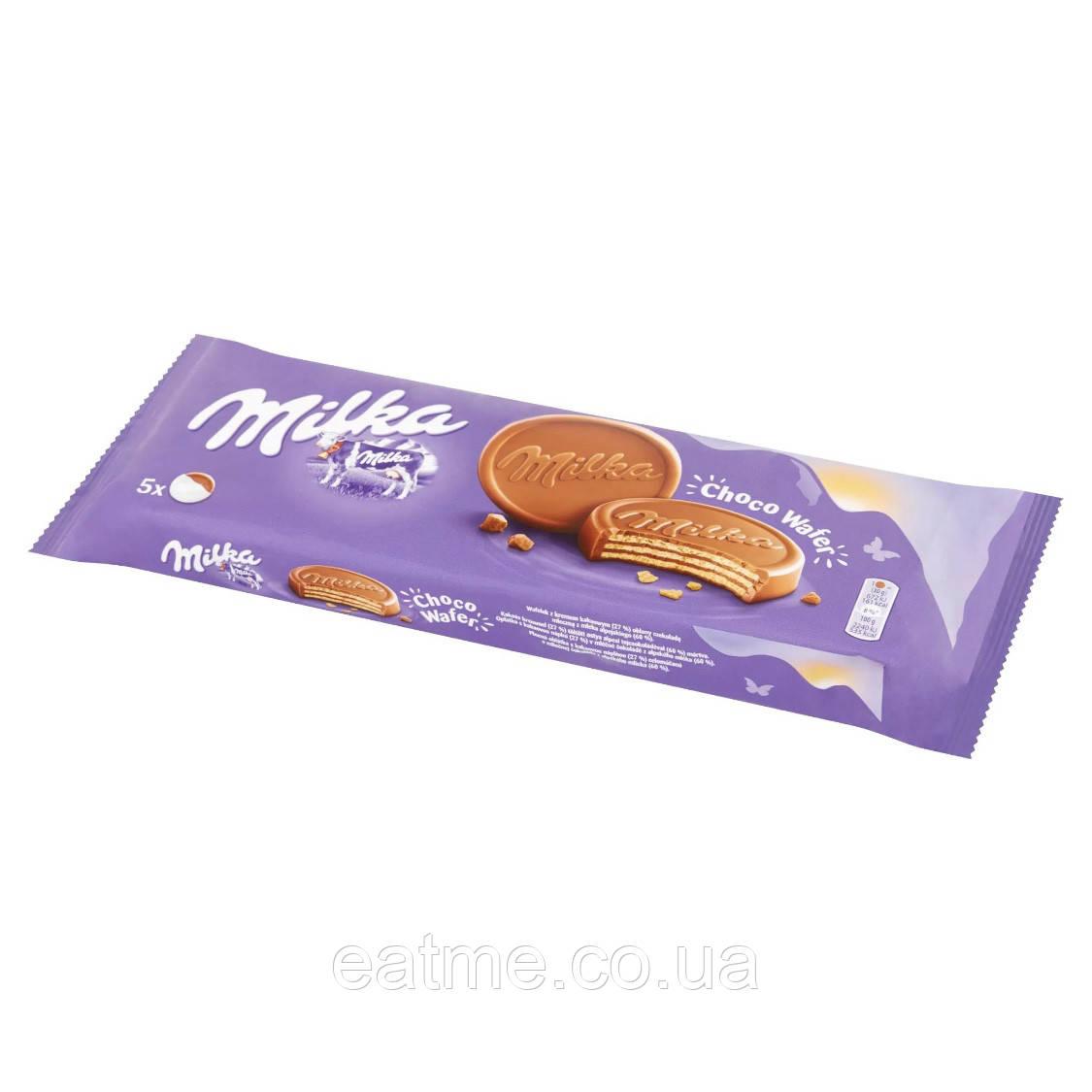 Milka Choco Wafer Вафли с шоколадной начинкой в молочном шоколаде