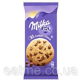 Milka XL Choco Песочное печенье с кусочками шоколада