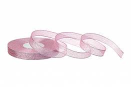 Стрічка парча 1,2 см рожева 23 метри