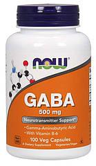 NOW Foods GABA 500 mg 100 Veg Capsules