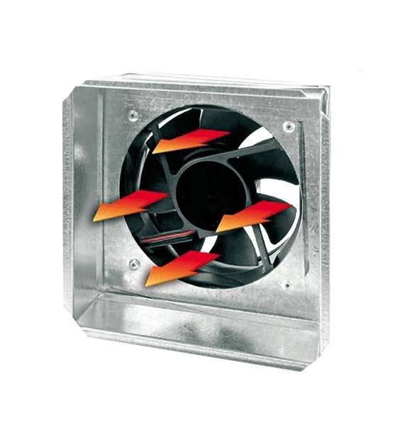 Жаростойкий вентилятор с датчиком для терморукава 17х17 см Ø100