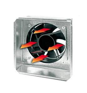 Жаростійкий вентилятор з датчиком для терморукава 17х17 см Ø125