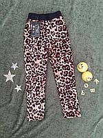 """Лосины детские """" леопард"""", на меху, р. 5-8 лет примерно, фото 1"""