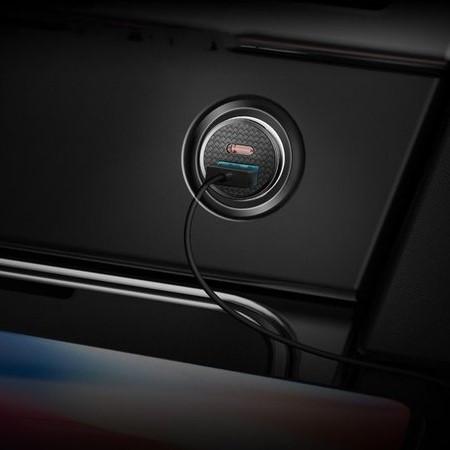 Зарядное Устройство для Авто от Прикуривателя USB+Type-C Baseus (CCALL-YS01) 30W Черный