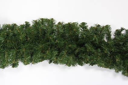 Гирлянда искусственная зеленая, густая, 270 см длина, 24 см диаметр (МГГ-24)