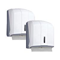 Держатель для бумажных полотенец V-сложения белый пластиковый PRO Service