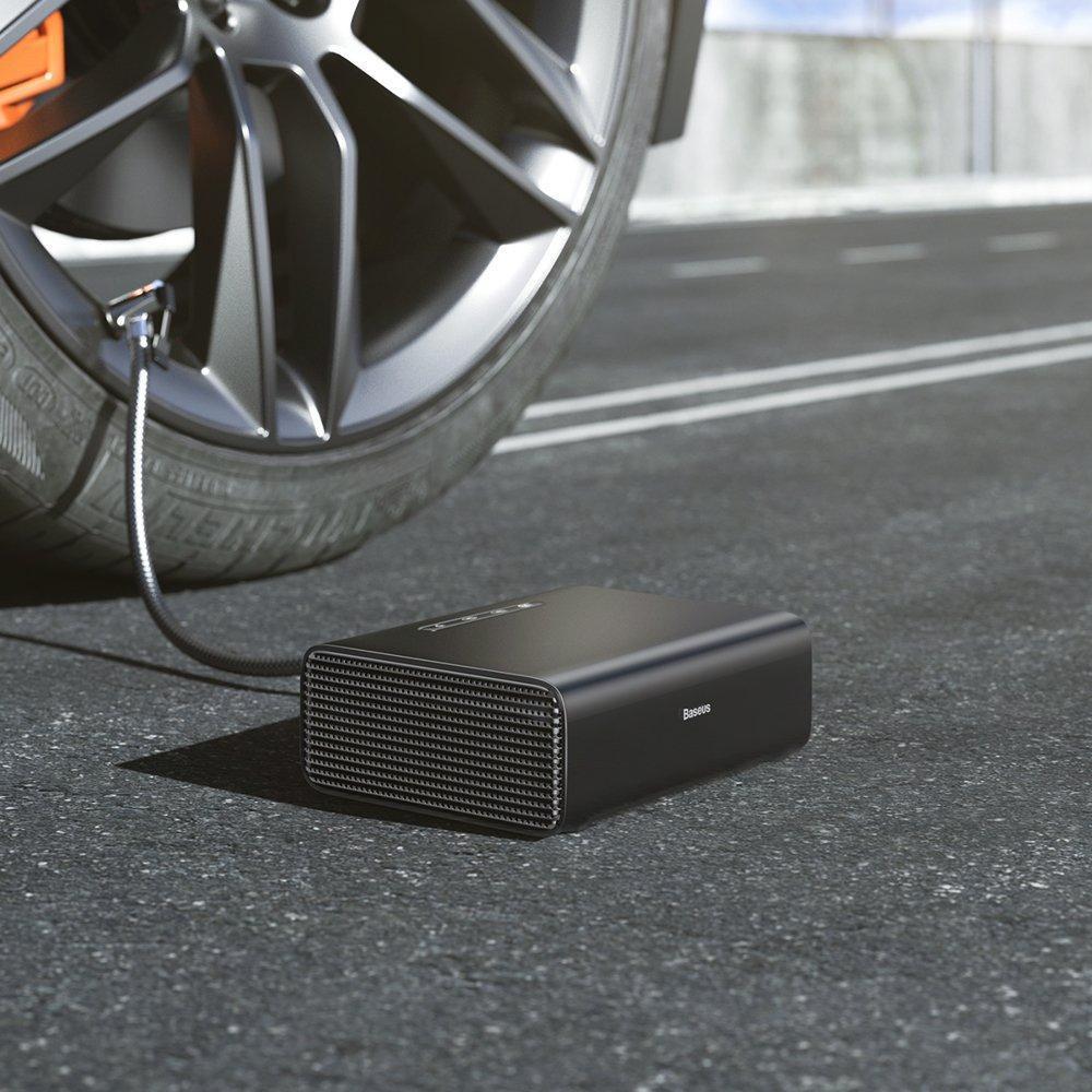 Насос Автомобильный Электрический от Прикуривателя Компрессор Baseus Smart (CRCQB01-01) Черный