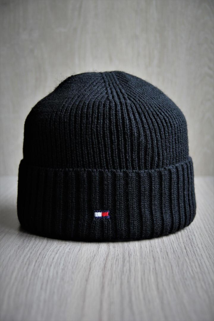 Шапка мужская Tommy Hilfiger. Зимняя стильная шапка. ТОП качество!!! Реплика