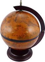 Глобус бар настольный коричневый 33002 R
