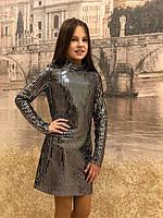 "Платье ""Диско"" серебро-елочка 19, фото 1"