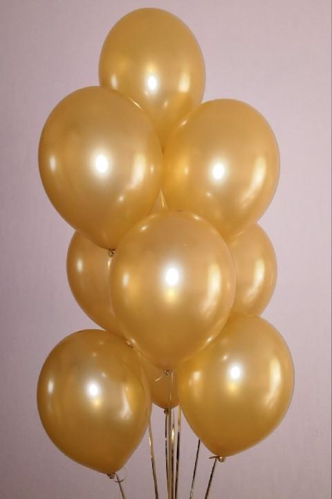 """Кулька повітряний металік золото 10"""" (25 см) Gemar 90-39 1778"""