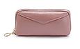 Кошелек с ремешком и нашивкой в форме конверта / натуральная кожа #10218 Пудровый, фото 8