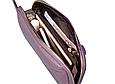 Кошелек с ремешком и нашивкой в форме конверта / натуральная кожа #10218 Пудровый, фото 5