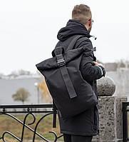 Роллтоп рюкзак мужской Morgan черный, городской рюкзак, молодежный рюкзак ,рюкзак в офис , roll top