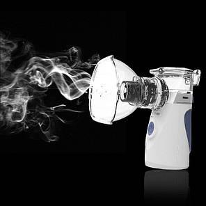 Ингалятор (небулайзер) МЕШ ультразвуковой для детей и взрослых Mesh Nebulizer YM-252 портативный белый, фото 2