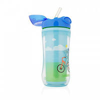 Чашка-термос с твердым носиком, цвет голубой, 12+ месяцев, 300 мл