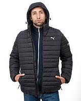Куртка мужская зимняя в стиле Puma Х black до -15°С   куртка мужская зимняя