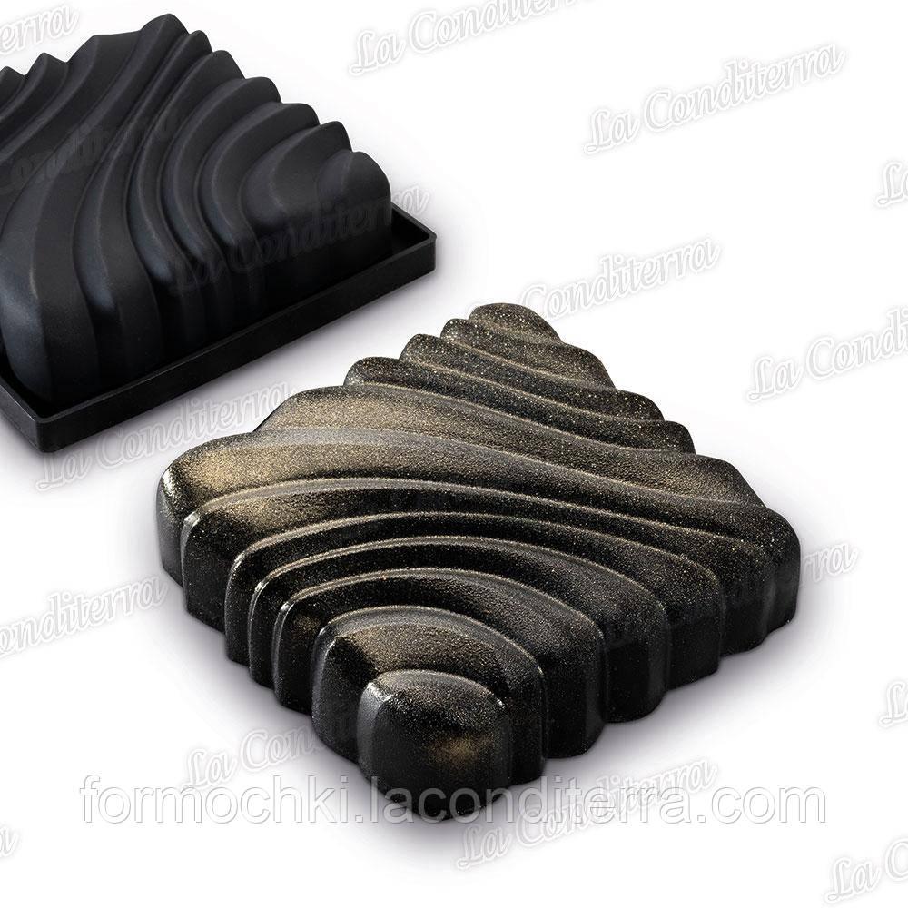 Силиконовая форма для десертов Squeeze Pavoni KE065S, 164х164х47 мм