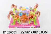 Кукла маленькая A8-722 (1624551) (48шт/2) 4 куколки в наборе, столик, продукты, на планш22,5*17*13см