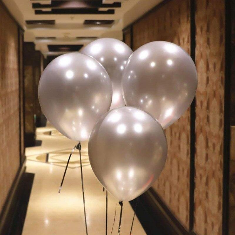 """Кулька повітряний металік сталевий срібло 10"""" (25 см) Gemar 90-38 1632"""