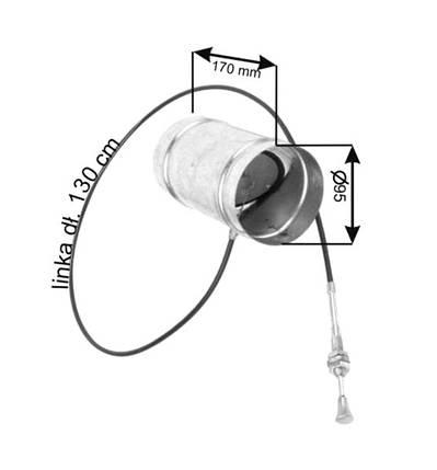 Дроссельная заслонка для регулировки подачи воздуха Ø100, фото 2