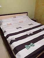 Качественное постельное белье Бантики, 2-спальный набор