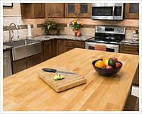 Стільниця кухонна з масиву чистого дерева, фото 1