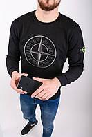 Мужской свитшот STONE ISLAND 10006 черный (реплика), фото 1