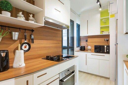 Кухонная деревянная столешница из массива дерева