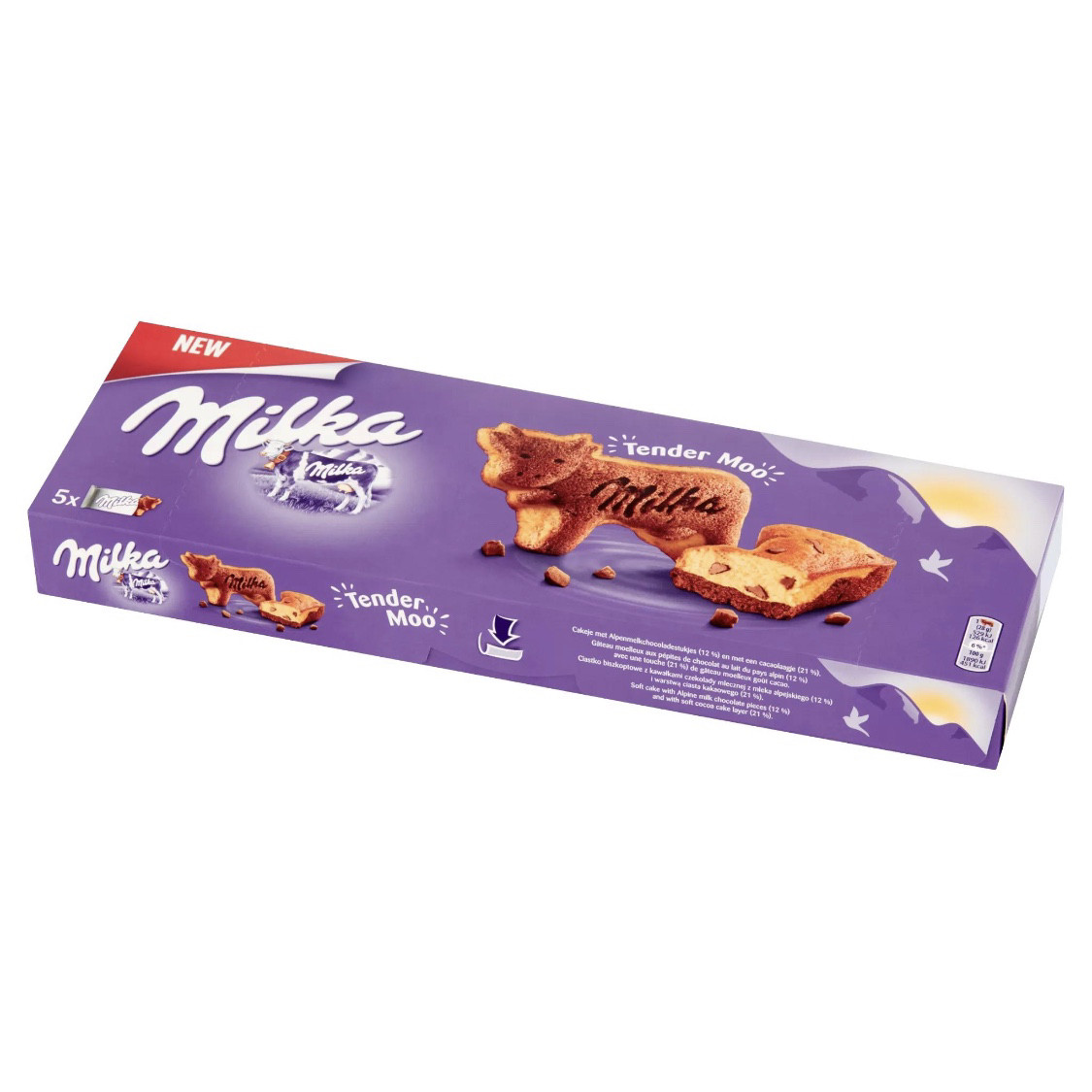 Milka Tender Moo Бисквиты с кусочками шоколада