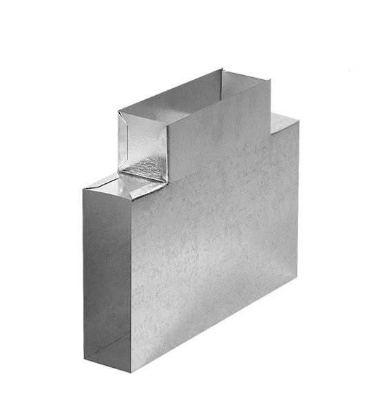Тройник для плоских каналов T-образный
