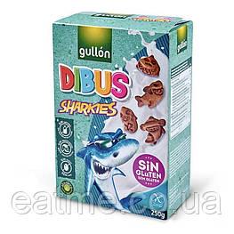 Gullon Dibus Sharkies Печенье без глютен, без лактозы и молочных белков, яиц и орехов