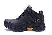 Мужские зимние кожаные ботинки Е-series Active Drive Black (реплика)