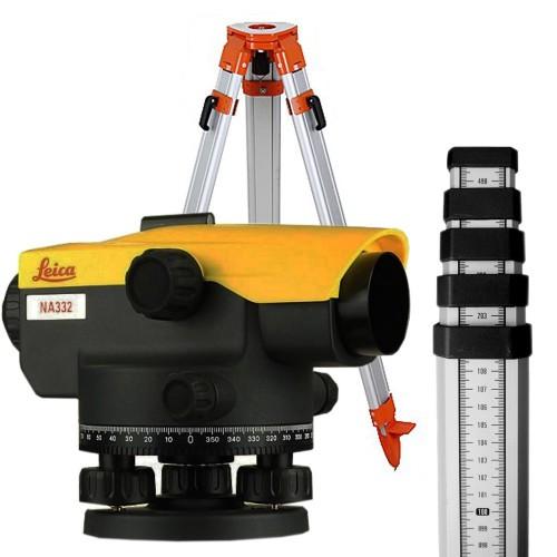 Нивелир оптический Leica Na332 SET + штатив+ рейка