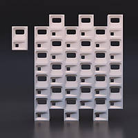 Гіпсові 3D перегородки «Куб»