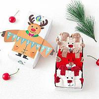 Новогодние носки в подарочной упаковке. Подарок девушке, ребенку, маме. Размер 36-40. Отличное качество!