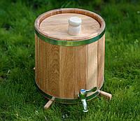 Бочка (жбан) дубовый для напитков 10 литров (вертикальный)