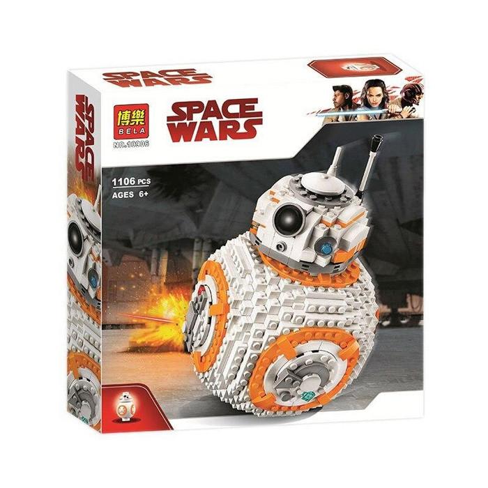 """Конструктор Bela 10906 Star Wars """"ВВ-8"""" 1106 деталей, аналог Lego 75187"""