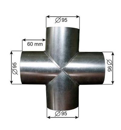Разделитель крестообразный Ø100, фото 2