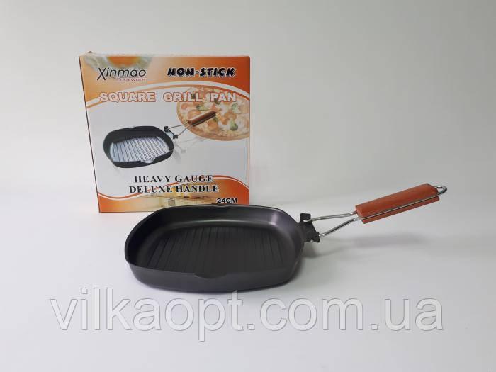 Сковорода-гриль, з тефлоновим покриттям d 24 cm, h 3,5 cm.