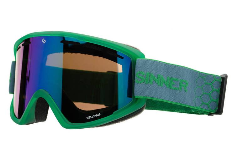Маска гірськолижна Sinner BELLEVUE GREEN Transparent-GREEN Mir (SIGO-173-76-28), фото 2