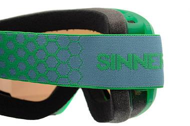 Маска гірськолижна Sinner BELLEVUE GREEN Transparent-GREEN Mir (SIGO-173-76-28), фото 3