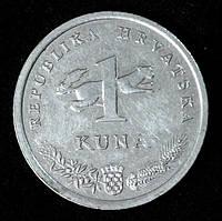 Монета Хорватии 1 куна 2007 г. Западный соловей