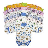 Боди для новорожденных на кнопках, с начесом
