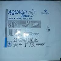 Аквасель Гидрофайбер (ConvaTec Aquacel Ag) повязка с серебром и усиленным волокном10 * 10, 1шт.