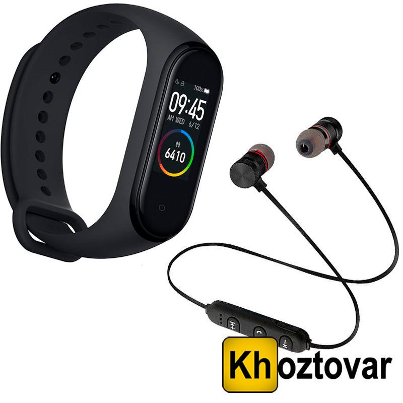 """Акционный набор Фитнес браслет Xiaomi Mi Band 4 + Беспроводные наушники """"T"""" Sports Sound Stereo"""
