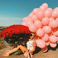 """Шарики воздушные светло-розовый 10"""" (25 см) Gemar 90-06 1779"""